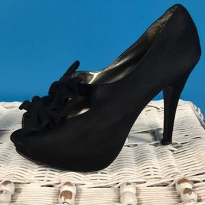 Cato Double Bow Black Heels